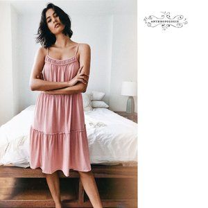Anthropologie Etta Tiered Mini Dress Rose_…